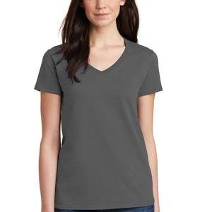 Ladies Heavy Cotton ™ 100% Cotton V Neck T Shirt Thumbnail